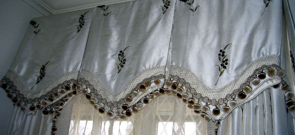 White Silk Pleat Valance